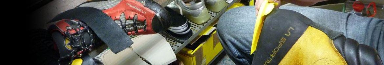 Kletterschuh Reparatur