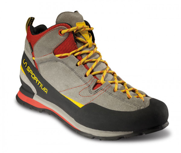 La Sportiva - Boulder X Mid GTX - grey red - Wanderschuhe